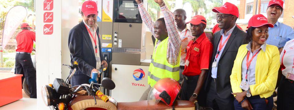 FlorentinDeLoppinot, Total Uganda Managing Director launches Total Excellium in Uganda